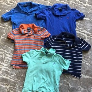 5 Polo by Ralph Lauren Polo Shirts- Size 4T